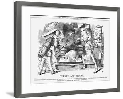 Turkey and Grease, 1869-John Tenniel-Framed Giclee Print