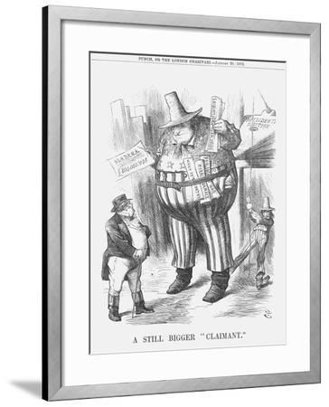 A Still Bigger Claimant, 1872-Joseph Swain-Framed Giclee Print