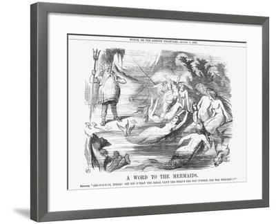 A Word to the Mermaids, 1865-John Tenniel-Framed Giclee Print