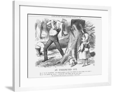An Unexpected Cut, 1874-Joseph Swain-Framed Giclee Print