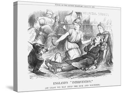 England's Intervention, 1870-Joseph Swain-Stretched Canvas Print