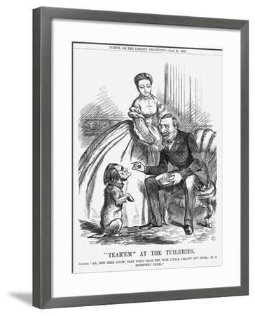 Tear'Em at the Tuileries, 1863-John Tenniel-Framed Giclee Print