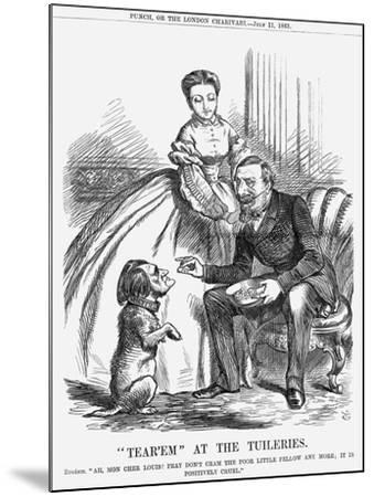 Tear'Em at the Tuileries, 1863-John Tenniel-Mounted Giclee Print