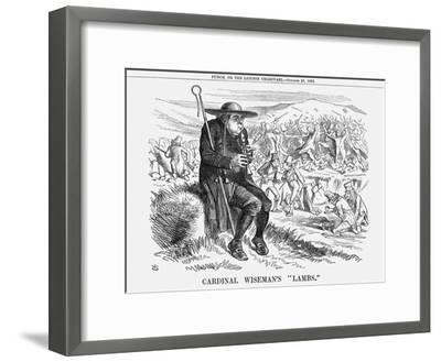 Cardinal Wiseman's Lambs, 1862-John Tenniel-Framed Giclee Print