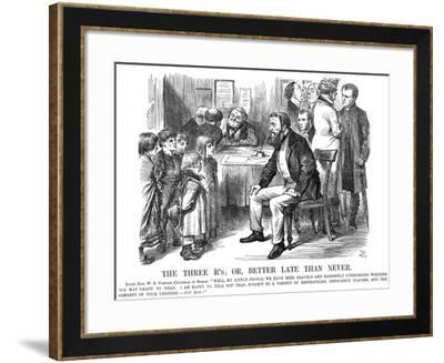 The Three R's or Better Late Than Never, 1870-John Tenniel-Framed Giclee Print