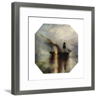 Peace, Burial at Sea of the Body of Sir David Wilkie, C1842-J^ M^ W^ Turner-Framed Giclee Print