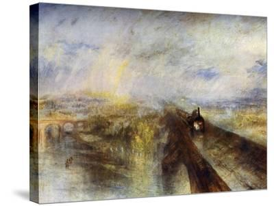 Rain, Steam and Speed - the Great Western Railway, C1844-J^ M^ W^ Turner-Stretched Canvas Print