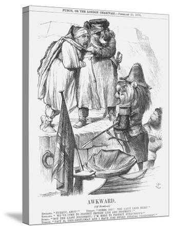 Awkward, 1878-Joseph Swain-Stretched Canvas Print