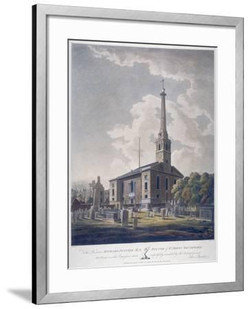 View of the Church of St John Horsleydown, Bermondsey, London, 1799-John William Edy-Framed Giclee Print