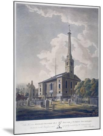 View of the Church of St John Horsleydown, Bermondsey, London, 1799-John William Edy-Mounted Giclee Print