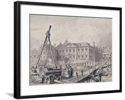 Fishmongers' Hall from North East, London, C1835-John Woods-Framed Giclee Print
