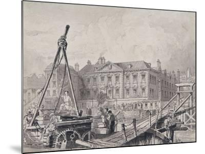 Fishmongers' Hall from North East, London, C1835-John Woods-Mounted Giclee Print