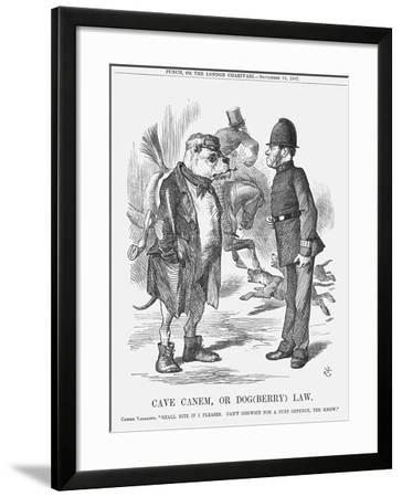 Cave Canem, or Dog (Berr) Law, 1867-John Tenniel-Framed Giclee Print