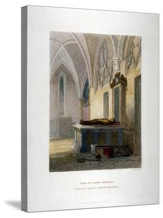 Tomb of Lancelot Andrews in the Lady Chapel, St Saviour's Church, Southwark, London, 1851-John Wykeham Archer-Stretched Canvas Print