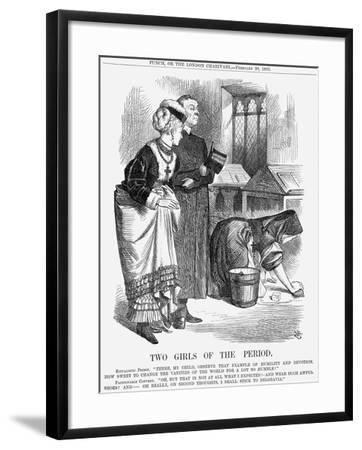Two Girls of the Period, 1869-John Tenniel-Framed Giclee Print