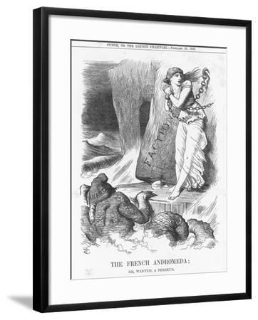 The French Andromeda; Or, Wanted, a Perseus, 1883-Joseph Swain-Framed Giclee Print