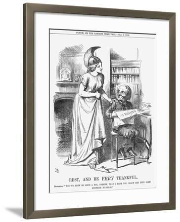 Rest, and Be Very Thankful, 1866-John Tenniel-Framed Giclee Print