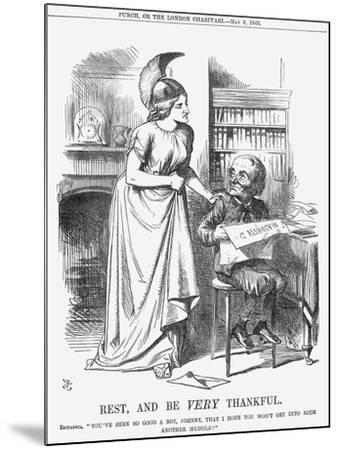 Rest, and Be Very Thankful, 1866-John Tenniel-Mounted Giclee Print