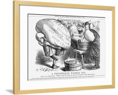 A Pan-Anglican Washing Day, 1867-John Tenniel-Framed Giclee Print
