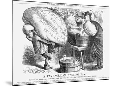 A Pan-Anglican Washing Day, 1867-John Tenniel-Mounted Giclee Print