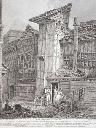 Milton Street, London, 1791-John Thomas Smith-Framed Giclee Print