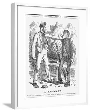No Rough-Ianism, 1866-John Tenniel-Framed Giclee Print