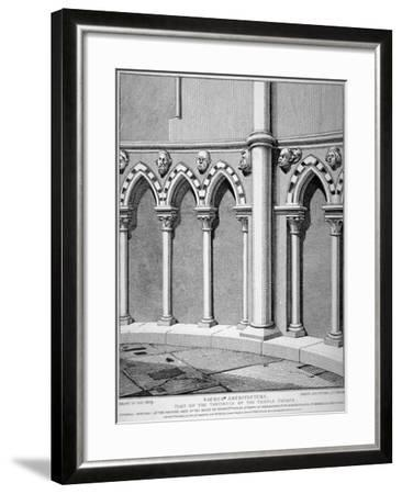 Part of the Vestibule of the Temple Church, City of London, 1812-John Thomas Smith-Framed Giclee Print