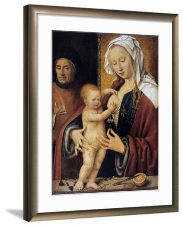 The Holy Family,' 16th Century-Joos Van Cleve-Framed Giclee Print