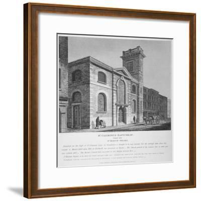 Church of St Clement, Eastcheap, City of London, 1812-Joseph Skelton-Framed Giclee Print