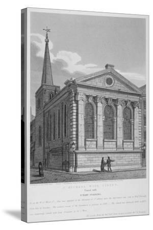 Church of St Michael, Wood Street, City of London, 1814-Joseph Skelton-Stretched Canvas Print