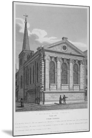 Church of St Michael, Wood Street, City of London, 1814-Joseph Skelton-Mounted Giclee Print