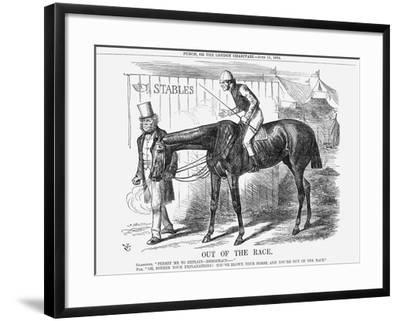 Out of the Race, 1864-John Tenniel-Framed Giclee Print