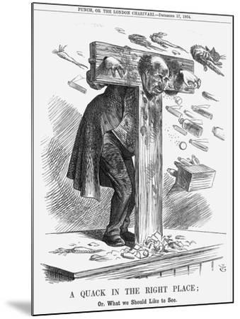 A Quack in the Right Place, 1864-John Tenniel-Mounted Giclee Print