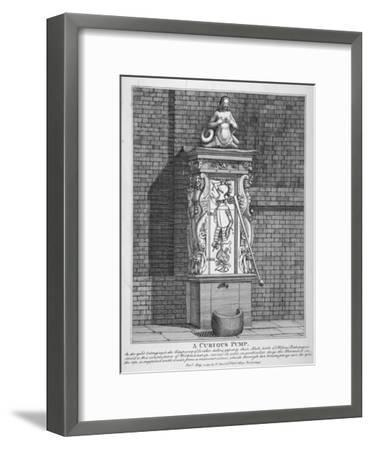 Ornate Water Pump in the Yard at Leathersellers' Hall, Little St Helen's, City of London, 1791-John Thomas Smith-Framed Giclee Print