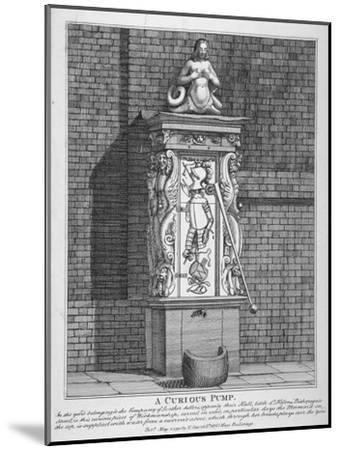 Ornate Water Pump in the Yard at Leathersellers' Hall, Little St Helen's, City of London, 1791-John Thomas Smith-Mounted Giclee Print