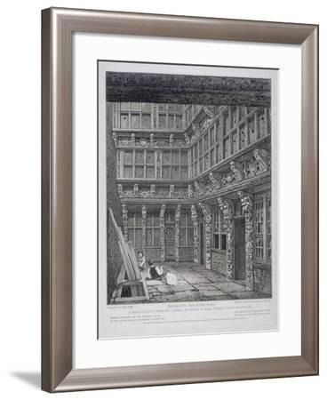 Mansion of Sir Richard (Dic) Whittington in Hart Street, Crutched Friars, London, 1812-John Thomas Smith-Framed Giclee Print