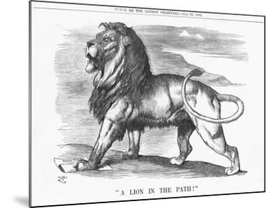 A Lion in the Path!, 1882-Joseph Swain-Mounted Giclee Print