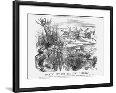 Looking Out for the Next Derby, 1863-John Tenniel-Framed Giclee Print