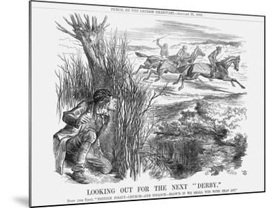 Looking Out for the Next Derby, 1863-John Tenniel-Mounted Giclee Print