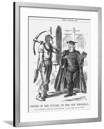 Oxford in the Future, or the New Freshman, 1865-John Tenniel-Framed Giclee Print
