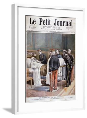The French Minister for War Giving a Military Decoration, 1894-Jose Belon-Framed Giclee Print