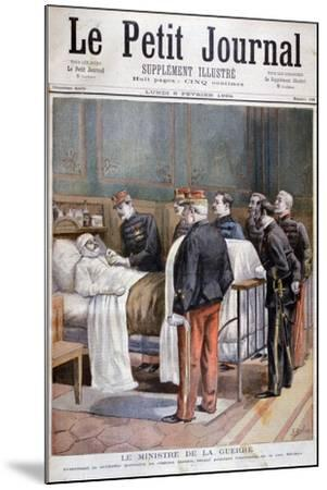 The French Minister for War Giving a Military Decoration, 1894-Jose Belon-Mounted Giclee Print