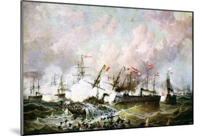 Naval Battle Between the Austrian and Italian Fleets, 1866-Josef Karl Berthold Puttner-Mounted Giclee Print
