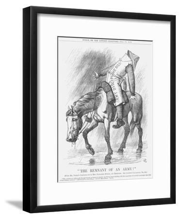 The Remnant of an Army!, 1879-Joseph Swain-Framed Giclee Print