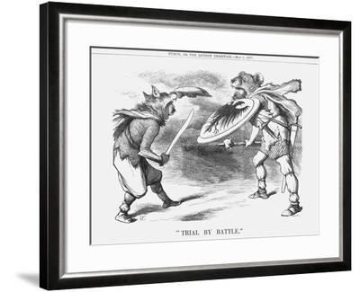 Trial by Battle, 1877-Joseph Swain-Framed Giclee Print