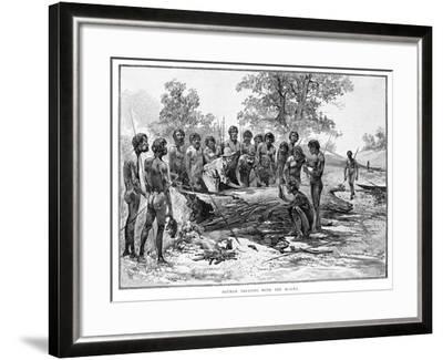 Batman Treating with the Blacks, 1835-Julian Ashton-Framed Giclee Print
