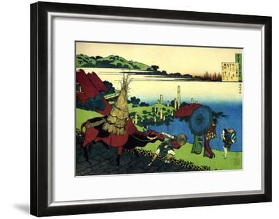From the Series Hundred Poems by One Hundred Poets: Motoyoshi Shinno, C1830-Katsushika Hokusai-Framed Giclee Print