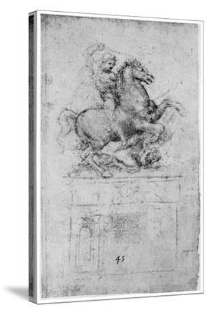 Study for the Trivulzio Monument, C1508-Leonardo da Vinci-Stretched Canvas Print