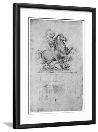 Study for the Trivulzio Monument, C1508-Leonardo da Vinci-Framed Giclee Print