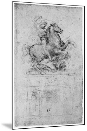 Study for the Trivulzio Monument, C1508-Leonardo da Vinci-Mounted Giclee Print